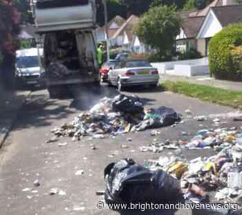 Batteries explode inside Brighton bin lorry - Brighton and Hove News