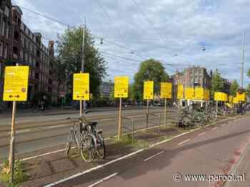 Op elke meter een geel bord? 'Niet mooi, wel duidelijk' - Parool.nl