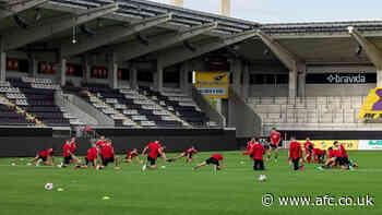 Dons in Sweden   training at the Bravida Arena - afc.co.uk