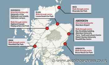 New Aberdeen Covid-19 test centre opens in Rosehill - Aberdeen Evening Express