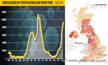 Covid infection rates in England are STILL going up, random testing reveals