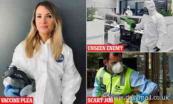 A day in the life of Covid cleaners who dress like astronauts as they scrub virus outbreak hotspots