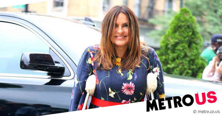 Mariska Hargitay returns to Law and Order: SVU set on crutches after serious knee and ankle injury