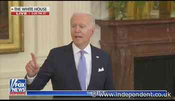 'People are getting sick': Fiery Biden hits out at Fox reporter who accused White House of flip-flopping on masks