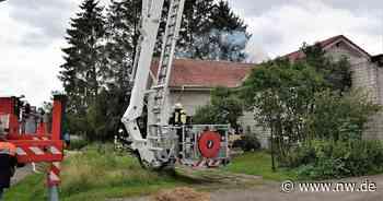 Petershagen - Update: Feuerwehreinsatz Petershagen: Mit Rauchgasvergiftung ins Klinikum - Neue Westfälische