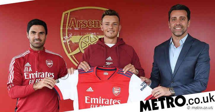Mikel Arteta reacts as Arsenal sign 'top target' Ben White in £50m transfer deal