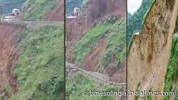 Himachal Pradesh: Landslide in Sirmaur district cuts off Paonta Sahib
