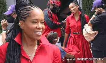 Regina King is back to workfilming a commercial in LA... after blissing out on vacation in Capri