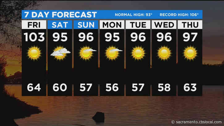 Temperatures Topping 103 Degrees In The Valley Friday