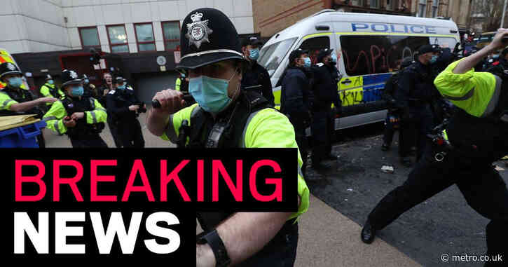 Four Kill the Bill protestors who trashed police station jailed for 14 years
