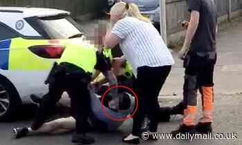 Police chiefs defend officer who was filmed punching man in the face after drink-driving arrest