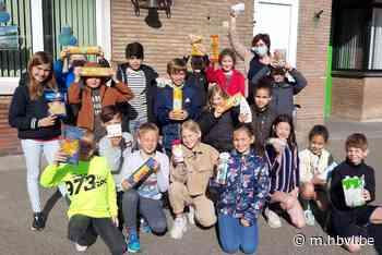 Vierde leerjaar De Zandkorrel Hechtel zamelt voedsel in voor Vincentius - Het Belang van Limburg