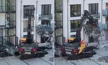Builder causes £425,000 of damage using a digger 'because developer owed him £4.2m'