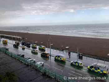 Coastguard vessels at incident near Brighton Palace Pier