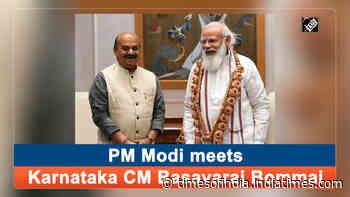 PM Modi meets Karnataka CM Basavaraj Bommai