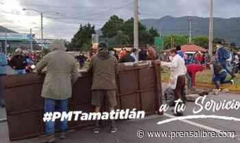 PMT reporta manifestación en el kilómetro 37 de la ruta al Pacífico - Prensa Libre