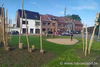 'Natuurlijk' spelen kan voortaan in gerenoveerd speeltuintje Broekstraat - Het Nieuwsblad