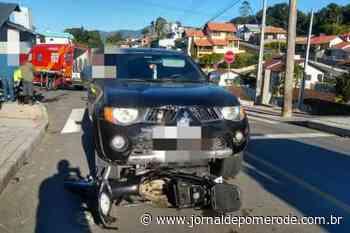 Motociclista fica gravemente ferido em acidente, em Timbó - Jornal de Pomerode
