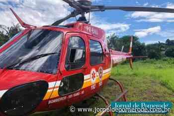 Helicóptero Arcanjo-03 presta apoio a mais um atendimento, em Pomerode - Jornal de Pomerode