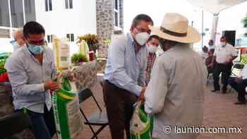 Entrega Ayuntamiento de Jiutepec apoyo a 104 agricultores - Unión de Morelos