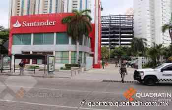 Asaltan banco Santander en plena Costera de Acapulco - Quadratin Guerrero
