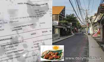 Shock as street food stall in Bali wraps banana fritters in a POSITIVE Covid test sheet - Daily Mail
