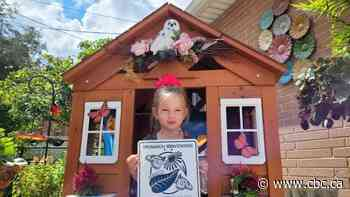 3-year-old Windsor girl raising and releasing monarch butterflies