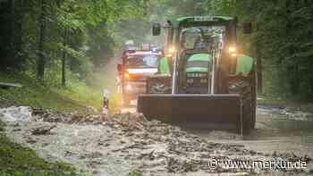 Unwetter im Kreis Miesbach: Straßen überflutet, Keller vollgelaufen - Chaos auf A8 - Merkur.de