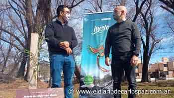 Gómez Gesteira recibió al intendente de Merlo en el Bosque de la Poesía - El Diario de Carlos Paz