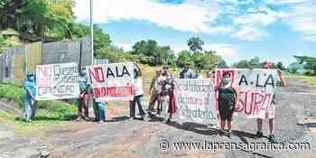 Protestan por la instalación de planta de transferencia en Cojutepeque - La Prensa Grafica