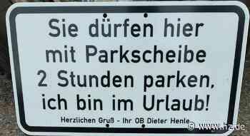 Giengener Innenstadt: Auf OB Henles Stellplatz in Giengen kann geparkt werden - Heidenheimer Zeitung