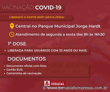 Indaial abre vacinação contra a Covid-19 para pessoas com 33 anos ou mais - Jornal Café Impresso