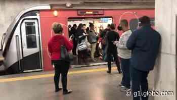 Principio de incêndio interrompe funcionamento do metrô do Rio - G1