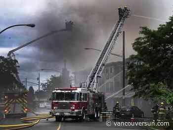 Arrests made in arson investigation into White Rock's 2016 Five Corners fire