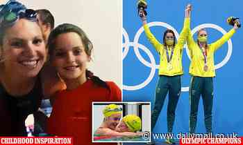 Adorable snap shows young Kaylee McKeown posing with her icon and Olympic teammate Emily Seebohm