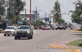 Convoy militar causa expectativa entre habitantes de Delicias - El Diario de Chihuahua
