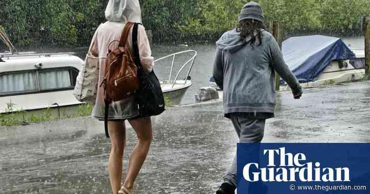 UK weather: flood warnings as Storm Evert moves eastwards