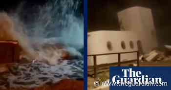 House falls off cliff in Argentina as sea reclaims land – video