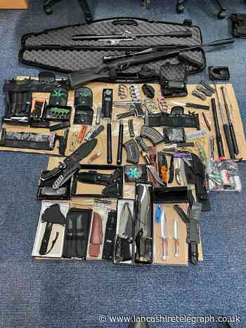 Stash of weapons including knuckle dusters, knives and CS spray seized in Pendle raid
