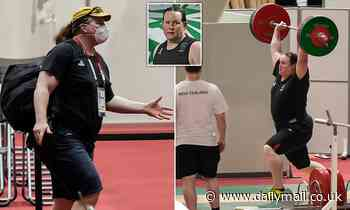 Transgender weightlifter Laurel Hubbard trains before controversial Olympics appearance