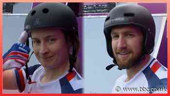 Tokyo Olympics: GB's Charlotte Worthington and Declan Brooks perform debut BMX freestyle runs