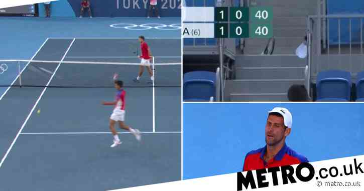 Novak Djokovic angrily launches racquet into stands in bronze medal clash