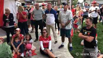 Belle River block shows support for hometown hurdler Noelle Montcalm at Tokyo games