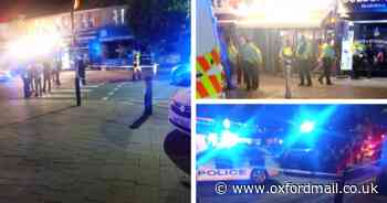 Large police presence and area cordoned off in Oxford