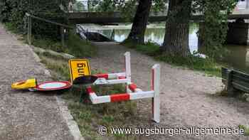 Randale an der Landsberger Karolinenbrücke