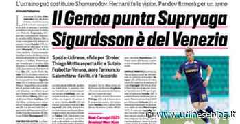 Corriere dello sport: Spezia-Udinese, sfida per Strelec | Udinese Blog - Udinese Blog