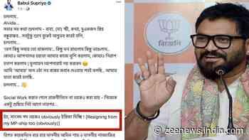 `Alvida`, resigning as an MP too`: Babul Supriyo hints at quitting politics and BJP