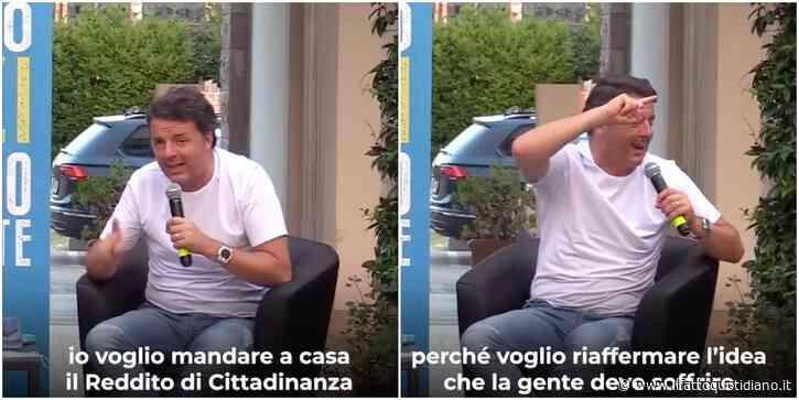 """Reddito di cittadinanza, Renzi insiste col referendum: """"No ai sussidi, bisogna sudare"""". E su Twitter spopola l'hashtag #Renzifaischifo"""