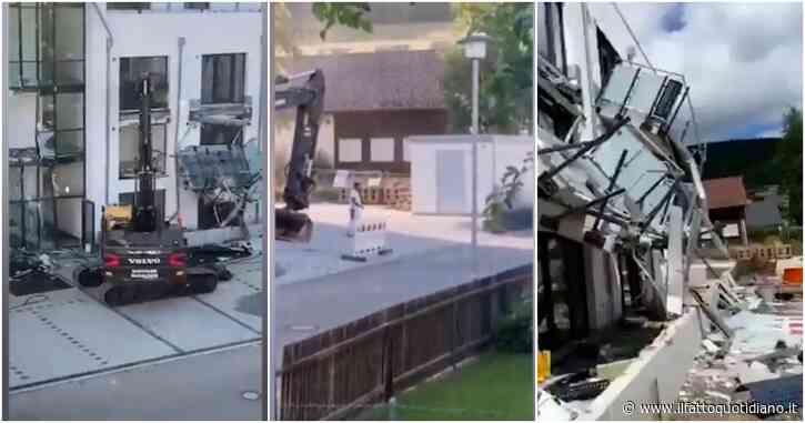 Mancati pagamenti per 5 milioni di euro: l'imprenditore furioso distrugge un nuovo complesso residenziale e si consegna alla polizia