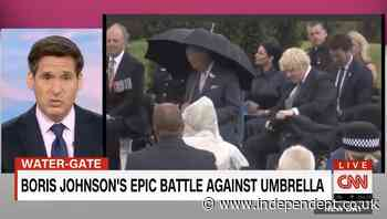 CNN mocks Boris Johnson's 'epic battle' with his umbrella: 'I should warn you, you may be shocked by this'
